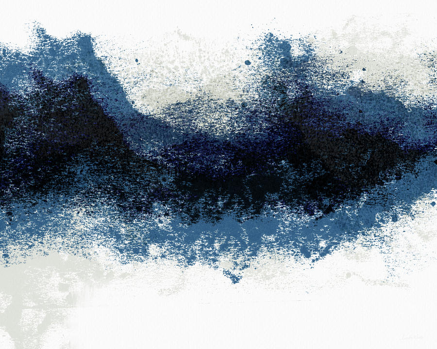 Abstract Painting - Crashing Waves- Minimal Art By Linda Woods by Linda Woods