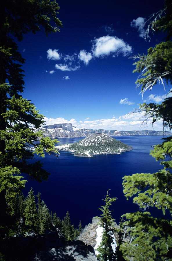Around Photograph - Crater Lake by Allan Seiden - Printscapes