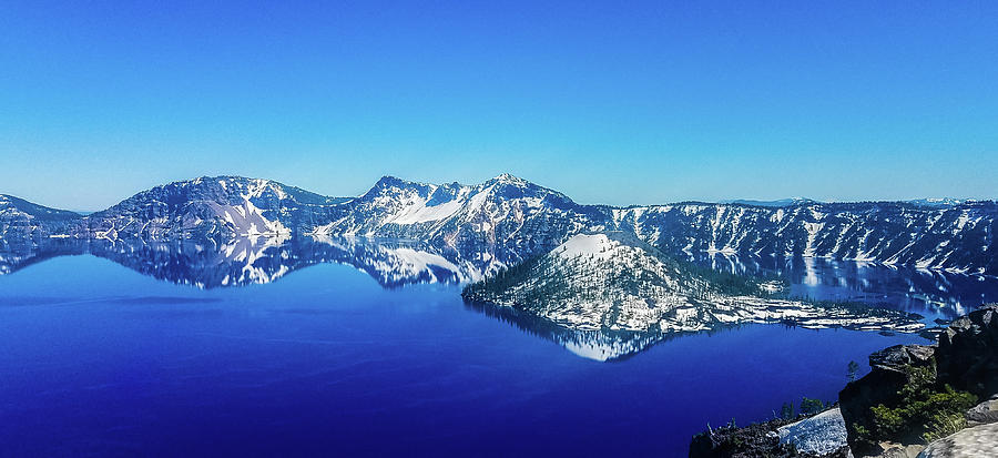 Crater Lake Blue Photograph