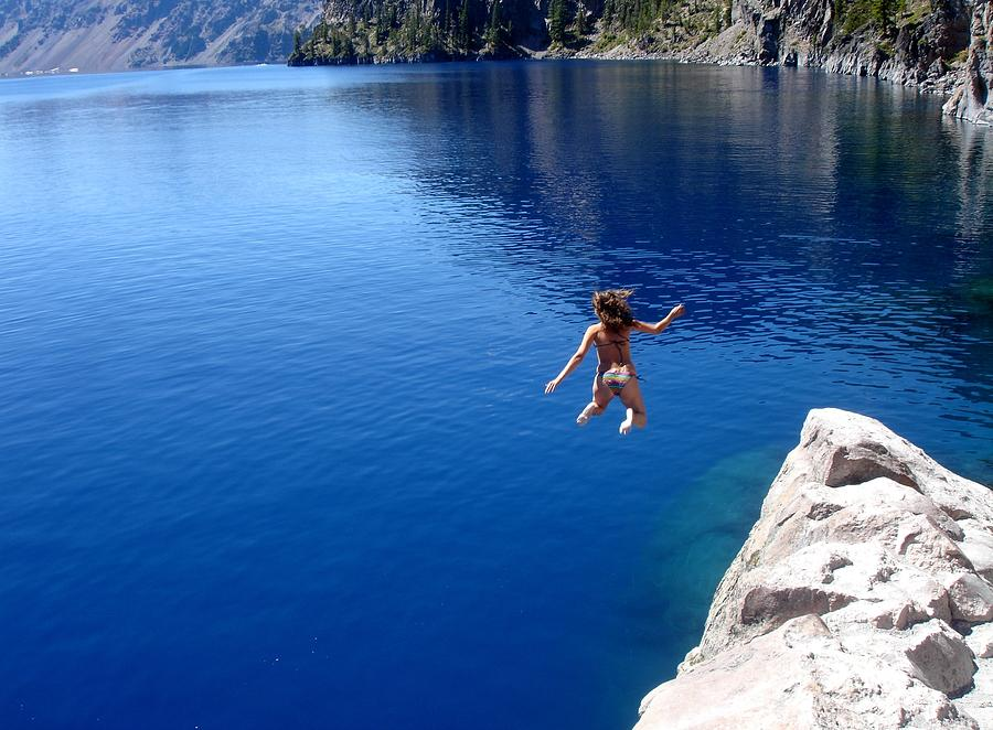 Crater Lake Cliff Jumping by Two Small Potatoes