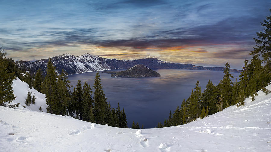Wizard Island Photograph - Crater Lake by David Gn
