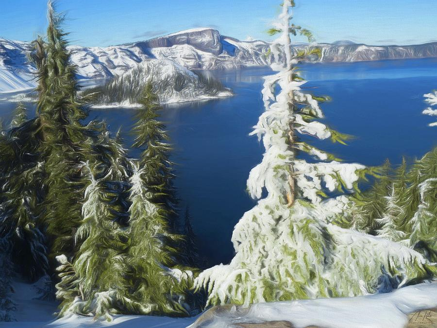 Crater Lake Impression Photograph