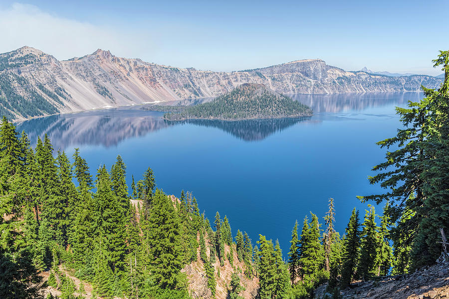 Smoke Photograph - Crater Lake by Mike Herdering