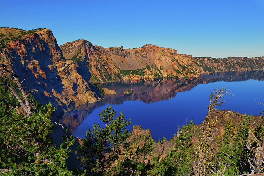Crater Lake Morning Reflections by Greg Norrell