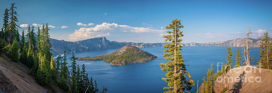 Crater Lake Panorama Photograph