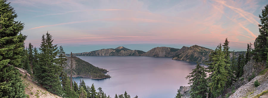 Pacific Northwest Photograph - Crater Lake Sunset by Lindy Grasser