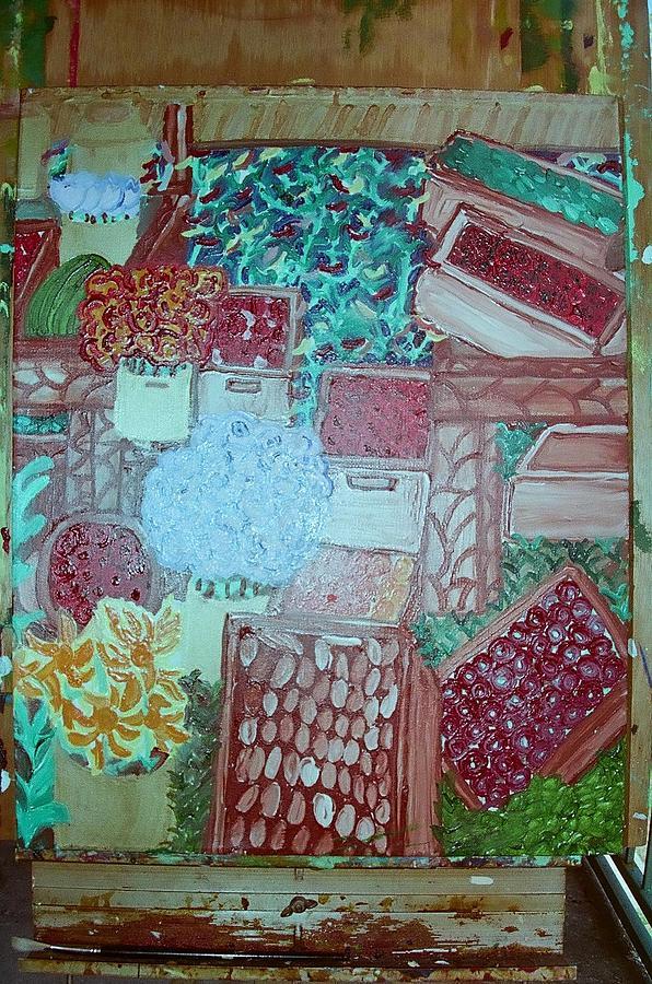 Flowers Painting - Crates by Velda J Jenkins