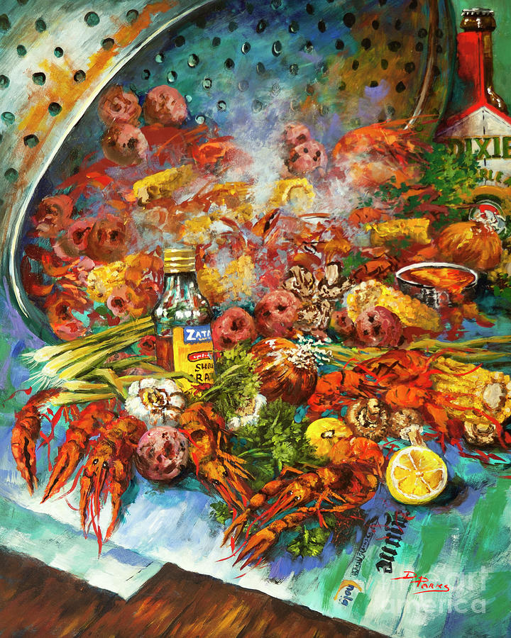 New Orleans Artist Painting - Crawfish Time by Dianne Parks