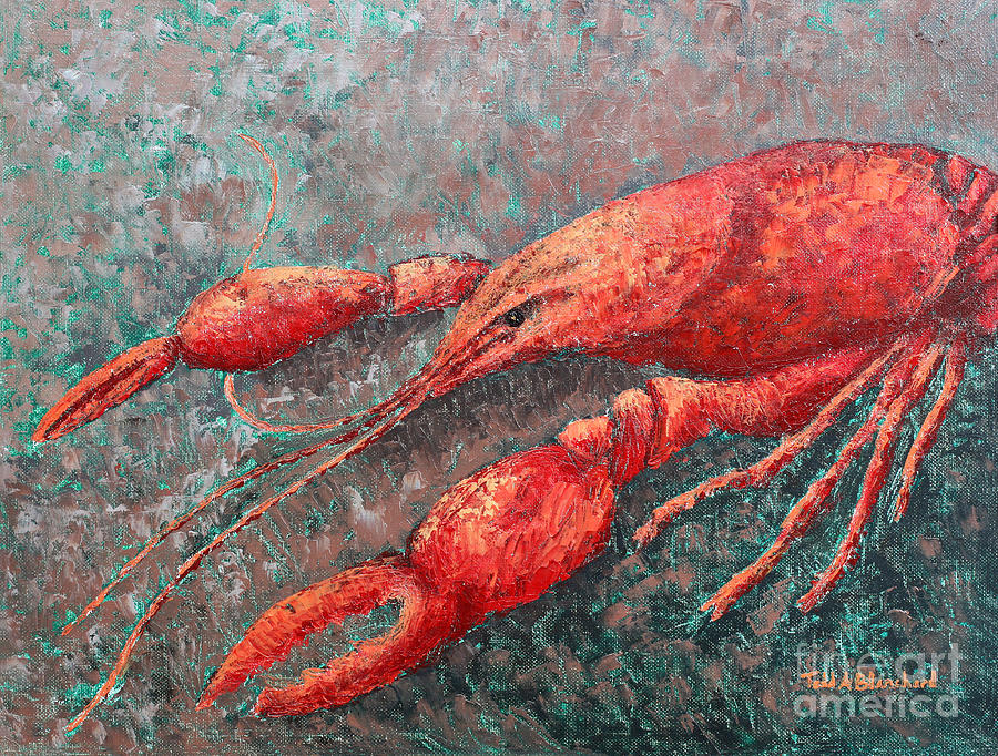Animal Painting - Crawfish by Todd A Blanchard