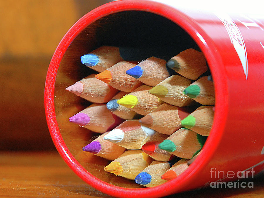 Experiment Photograph - Crayons by Graham Taylor