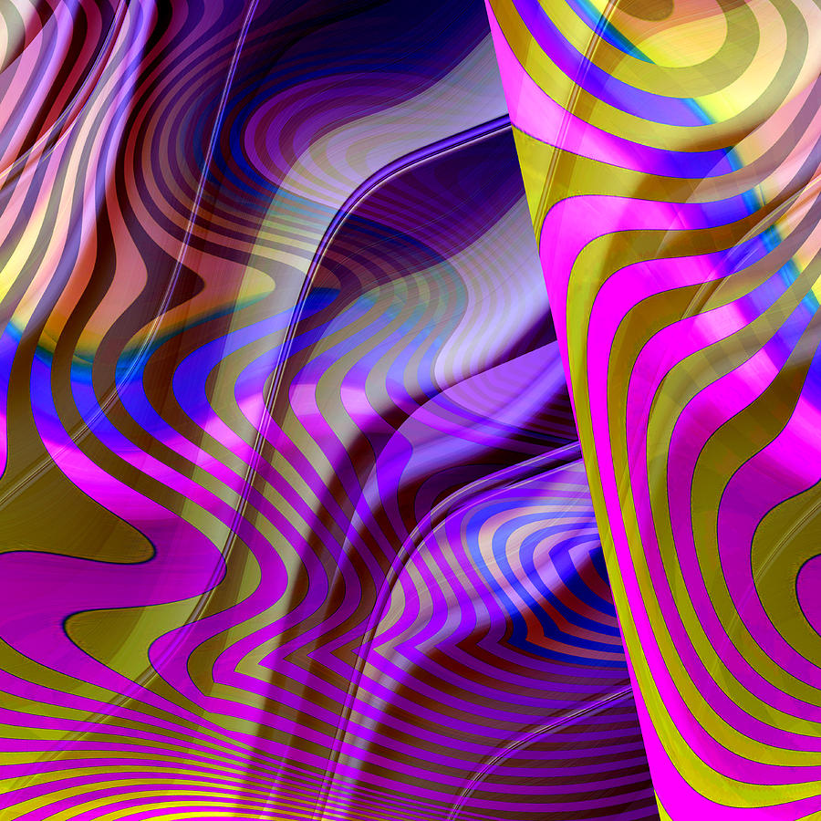 Abstract Digital Art - Crazy Busy by Ruth Palmer