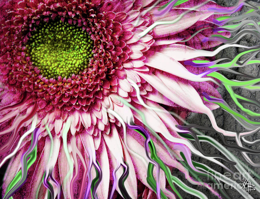 Flower Mixed Media - Crazy Daisy by Christopher Beikmann
