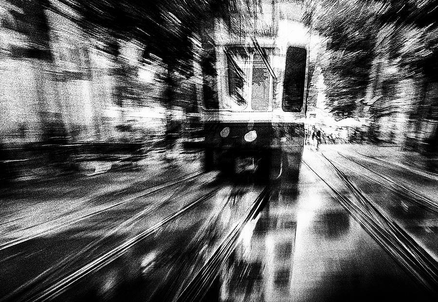 Tram Photograph - Crazy Driver by Samanta