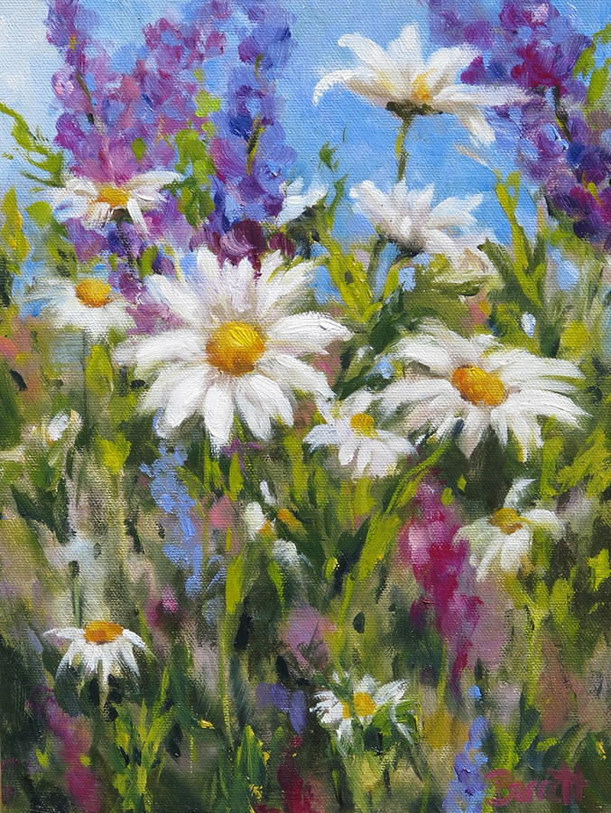 Crazy For Daisies Painting By Barrett Edwards