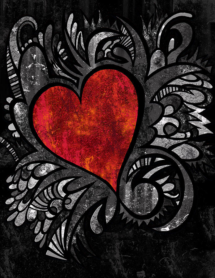 Heart Digital Art - Crazy Heart by Kelly Maddern