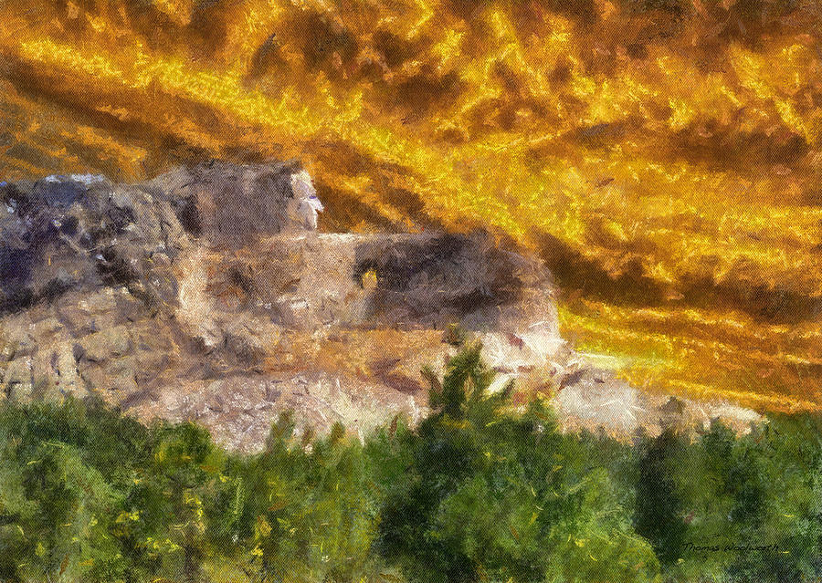 American Mixed Media - Crazy Horse Monument Pa by Thomas Woolworth