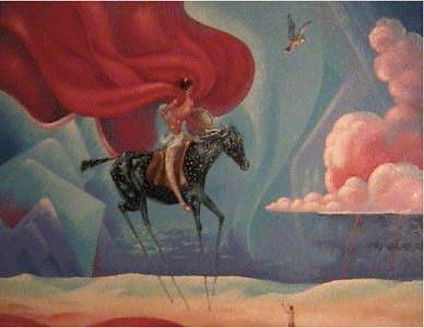 Vision Painting - Crazy Horses Vision by Gordon Sage