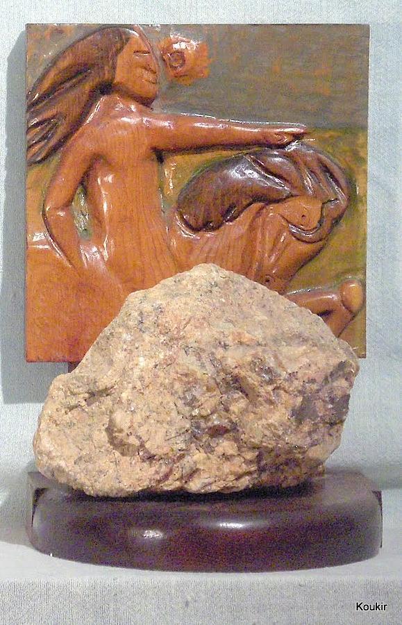 Sculpture Sculpture - Crazy Horss by Kent Kanouse