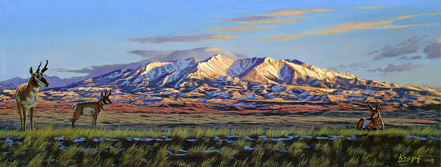 Mountains Painting - Crazy Mountains-Morning by Paul Krapf