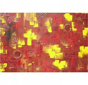 Crazy Red Painting by ARTSTRACTO - clauss