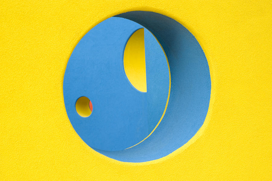 Yellow Photograph - Crazy Sideways Smiley Face by John Gusky