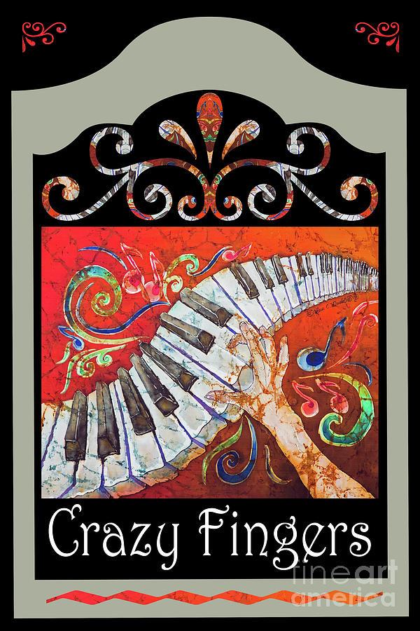 Piano Mixed Media - CrazyFingers_Frame1 by Sue Duda