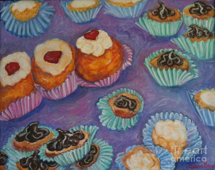 Food Painting - Cream Puffs by Sherri Bramlett
