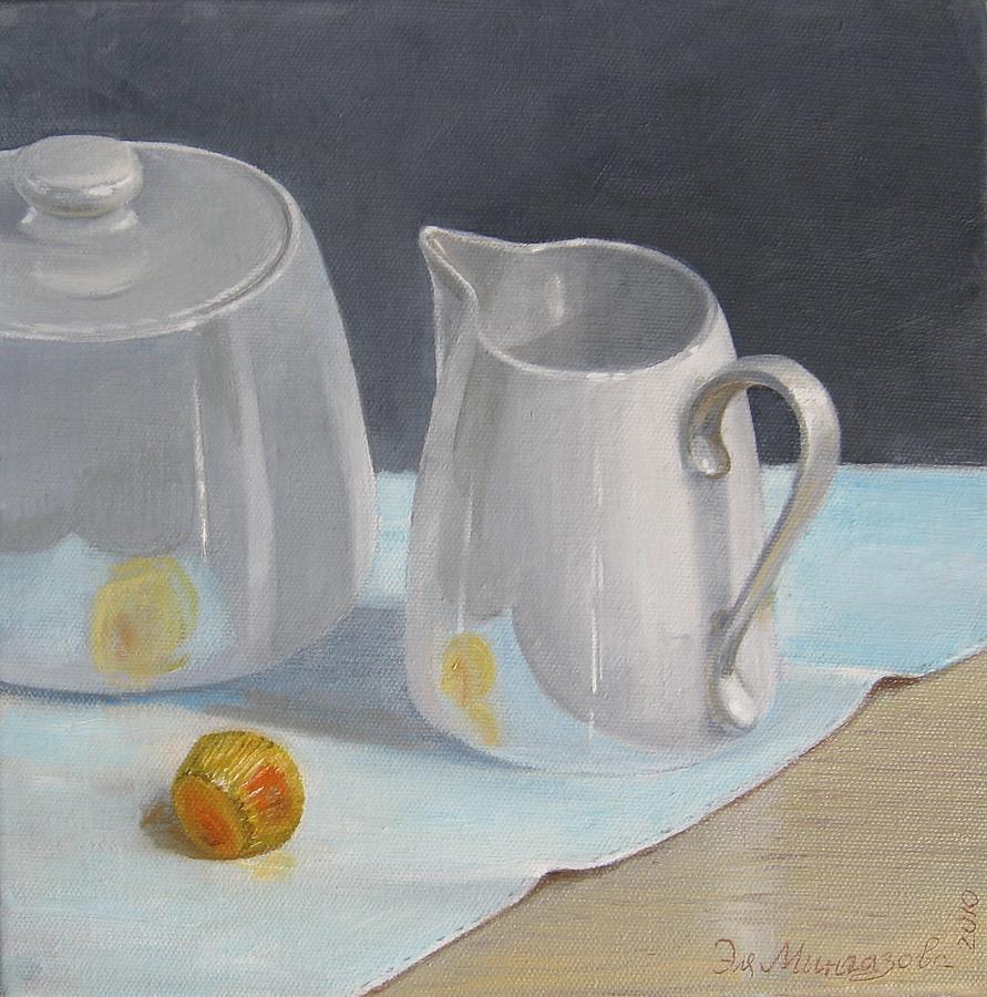 Still Life Painting - Creamer  by Eleonora Mingazova