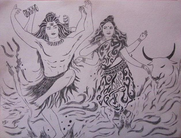 Creation Drawing By Aurokanya Chattopadhya