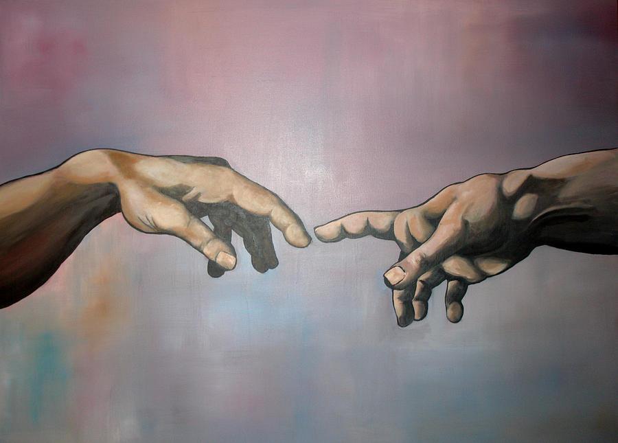 Creation Of Adam Painting - Creation by Brent Jones