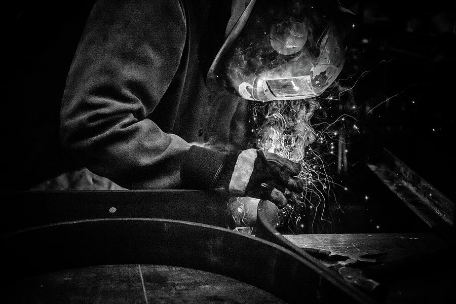 Welder Photograph - Creation by Corey OHara