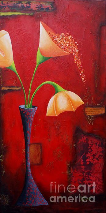 Red Painting - Creation Imaginaire    by Suzon Baron