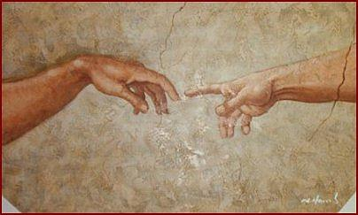 Oil Painting Painting - Creation Of Man Oil Painting by Michelangelo