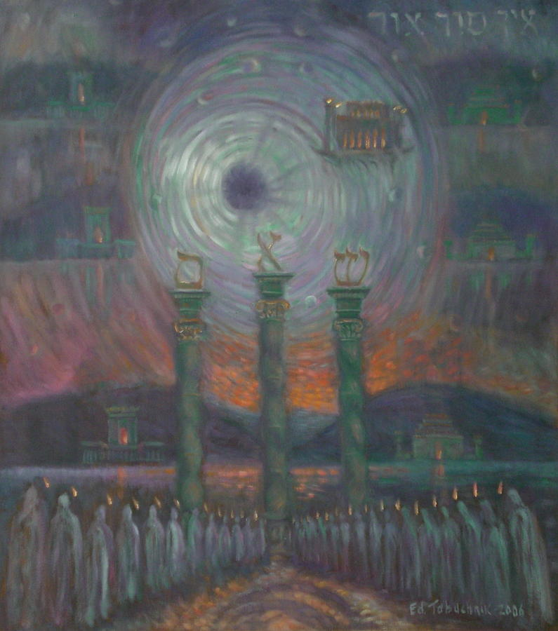 Religious Painting - Creation of The World by Edward Tabachnik