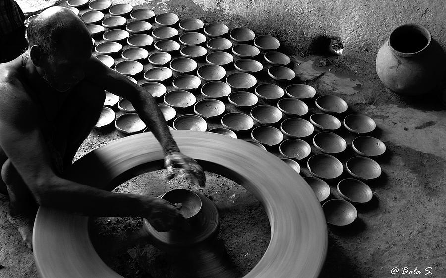 Pots Photograph - Creative Hands by Balasubramanyam TR