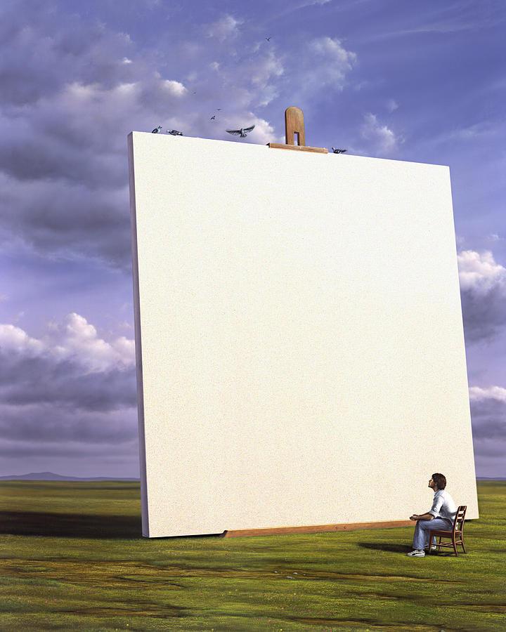 Artist Painting - Creative Problems by Jerry LoFaro