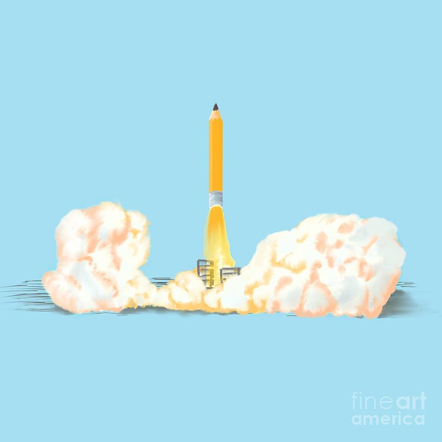 Pencil Photograph - Creative Takeoff by Cesar Padilla