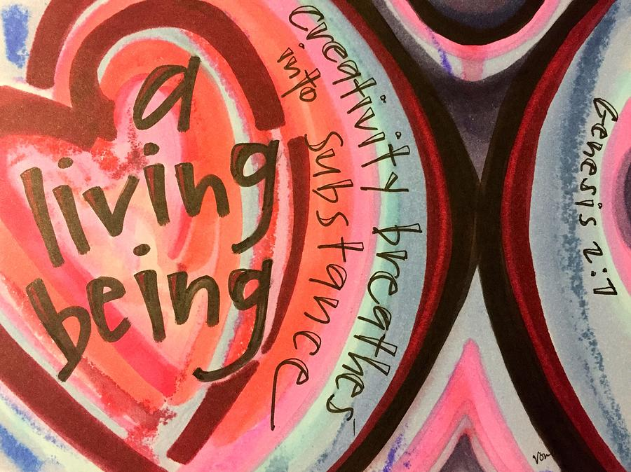 Creativity Painting - Creativity Breathes by Vonda Drees