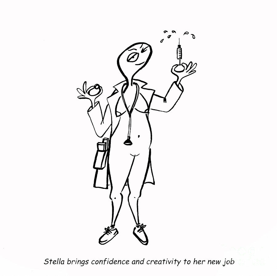 Stella Digital Art - Creativity Not Required by Leanne Wilkes