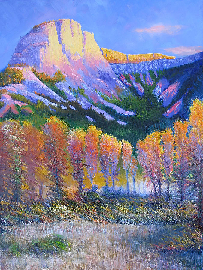 Oil Painting - Creator Mountain by Gregg Caudell