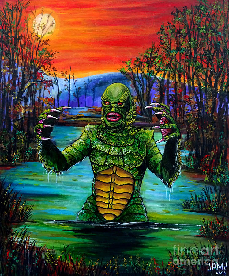 Creature From The Black Lagoon Painting - Creature From The Black Lagoon by Jose Mendez