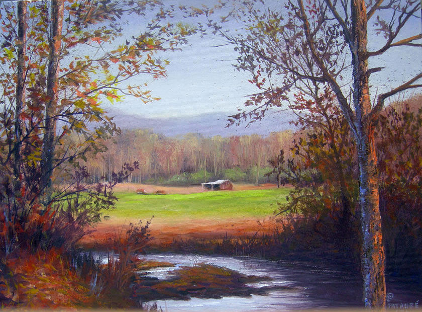 Landscape Painting - Creek at Cartwrights II by Pat Aube Gray