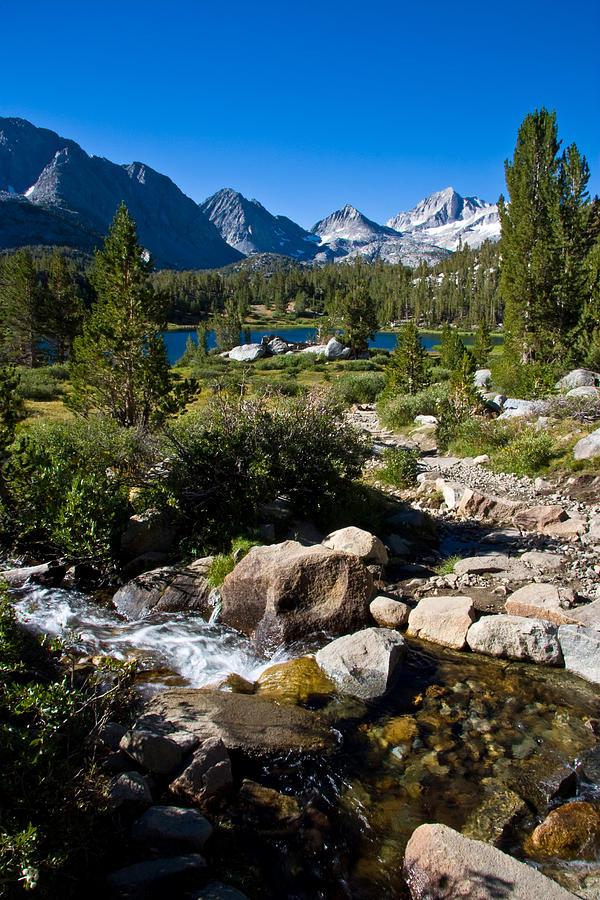 Mountain Lake Photograph - Creek At Heart Lake by Chris Brannen