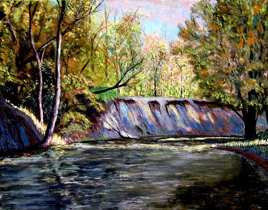 Creek Bank Painting - Creek Bank by Stan Hamilton