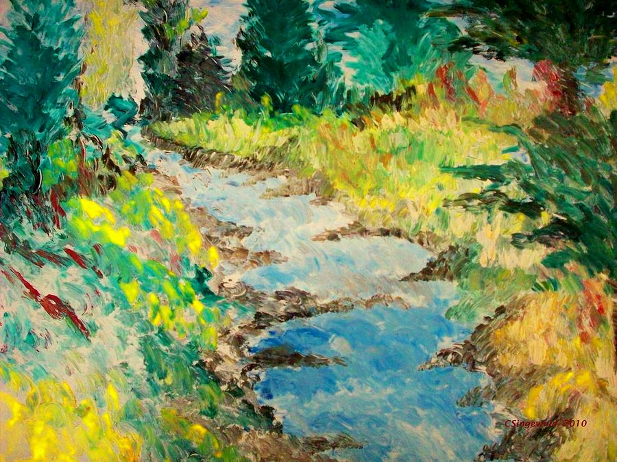 Landscape Painting - Creek by Cary Singewald
