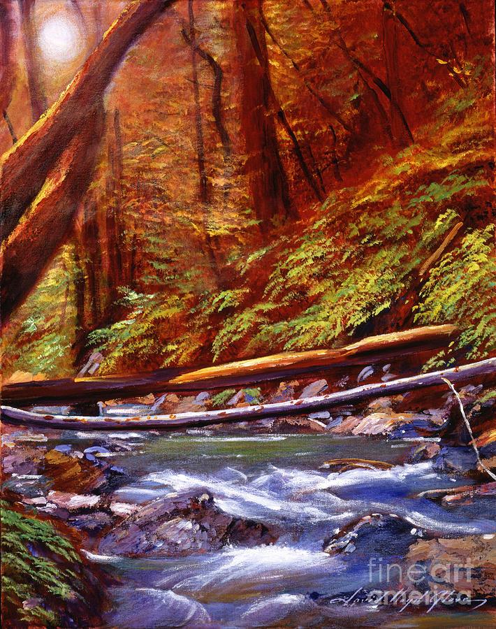Landscape Painting - Creek Crossing by David Lloyd Glover