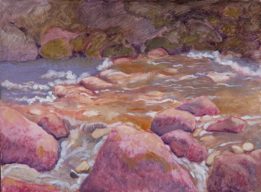 Creek Painting - Creek In Spring by Robert Bissett