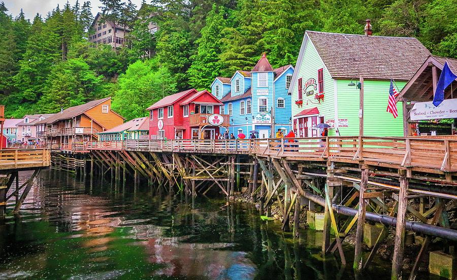 Seascape Photograph - Creek Street Ketchikan Alaska by Jason Brooks