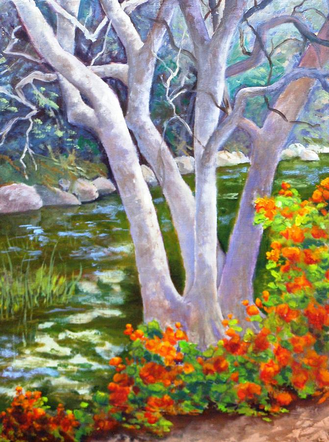 Tree Painting - Creekside by Dorothy Nalls