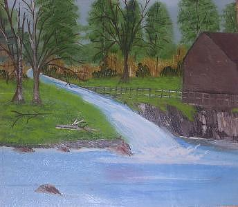 Creekside Painting by Florence Hazen